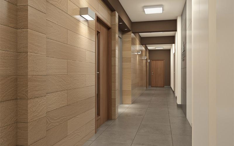 Wnętrze mieszkania, wizualizacja korytarza