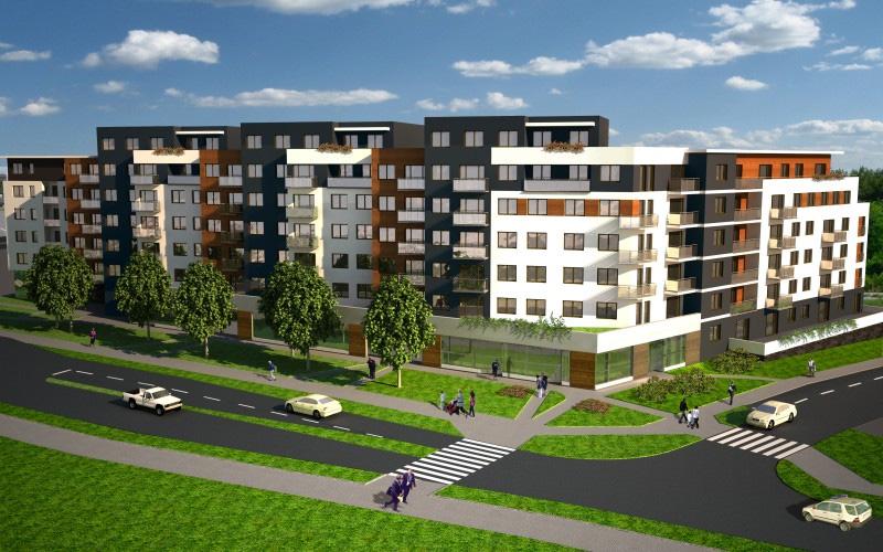 Wizualizacja osiedla Aurora, nowoczesne mieszkania